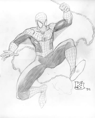 standing spiderman coloring pages | SwanShadow Thinks Out Loud